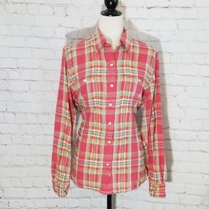 Lauren By Ralph Lauren Plaid Cotton Flannel